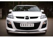 """Защита переднего бампера """"дуга"""" d76 для Mazda CX-7 (2010-2012)"""