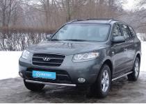 Защита переднего бампера Metec для для Hyundai Santa Fe (2006-2012)