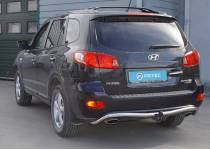 Защита заднего бампера Metec для для Hyundai Santa Fe (2006-2012)
