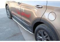 Боковые пороги серия TOUR для Hyundai Santa Fe (2013-)