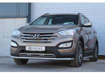 Защита переднего бампера Metec для Hyundai Santa Fe (2013-)