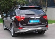Защита заднего бампера Metec для Hyundai IX55 (2006-)