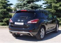 Защита заднего бампера Metec для Nissan Murano (2010-2015)