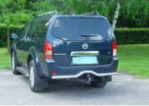 Защита заднего бампера Metec для Nissan Pathfinder (2010-2013)