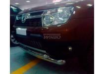 Защита переднего бампера двойная Winbo для Renault Duster