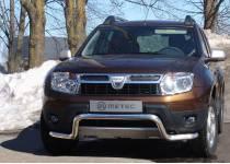 """Защита переднего бампера """"волна"""" Metec для Renault Duster"""
