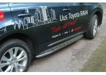 Боковые пороги серия TOUR для Toyota Rav4 (2013-2015)