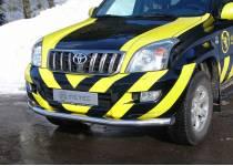 Защита переднего бампера Metec для Toyota Land Cruiser 120 (2003-2009)