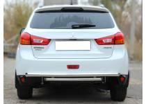 Защита заднего бампера двойная d60/53 для Mitsubishi ASX (2010-2012)