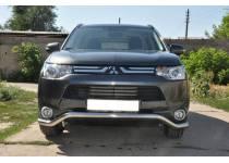 "Защита переднего бампера ""волна"" d60 для Mitsubishi Outlander (2012-2013)"