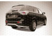 """Защита заднего бампера """"волна"""" длинная d57 для Mitsubishi Outlander 2014"""