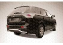 "Защита заднего бампера ""волна"" d57 для Mitsubishi Outlander 2014"