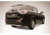 Защита заднего бампера короткая d57 для Mitsubishi Outlander 2014