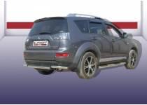 Защита заднего бампера короткая d57 для Mitsubishi Outlander XL (2007-2009)