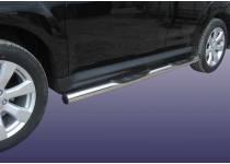 Пороги труба с проступью d76 для Mitsubishi Outlander XL (2010-2012)