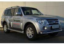 Защита переднего бампера d76 для Mitsubishi Pajero 4 (2012-2013)