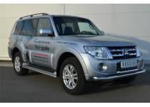Защита переднего бампера двойная d76/63 для Mitsubishi Pajero 4 (2012-2013)