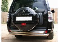 Защита заднего бампера двойная d70/60 для Mitsubishi Pajero 4 (2012-2013)