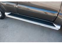 Защита штатных порогов d42 для Mitsubishi Pajero 4 (2014-)
