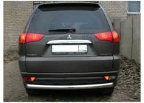 Защита заднего бампера d76 для Mitsubishi Pajero Sport (2008-2012)