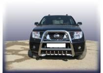 Кенгурятник высокий с защитой картера d76 для Nissan Navara D40 (2005-)