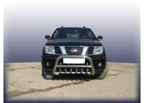 Кенгурятник низкий с защитой картера d76 для Nissan Navara D40 (2005-)