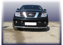 Защита переднего бампера d76 для Nissan Navara D40 (2005-)