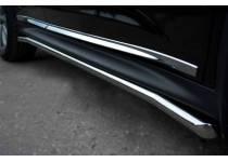Защита порогов d42 для Nissan Juke 4x4 (2011-)