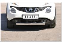 Защита переднего бампера овал d75/42 для Nissan Juke 4x2 (2011-)