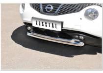 Защита переднего бампера d63/42 для Nissan Juke 4x2 (2011-)