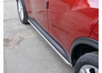 Пороги труба d42 для Nissan Juke 4x2 (2011-)
