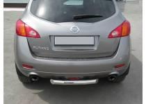 Защита заднего бампера d76 для Nissan Murano (2002-2010)
