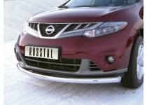 Защита переднего бампера d63 для Nissan Murano (2010-2015)
