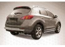 Защита заднего бампера двойная d57/42 для Nissan Murano (2010-2015)