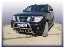 Кенгурятник низкий с защитой картера d76 для Nissan Pathfinder (2005-2010)