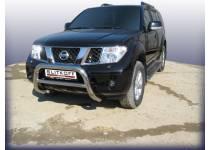 Кенгурятник низкий d76 для Nissan Pathfinder (2005-2010)