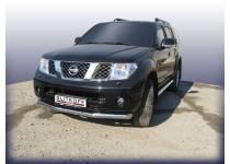 Защита переднего бампера d76 для Nissan Pathfinder (2005-2010)