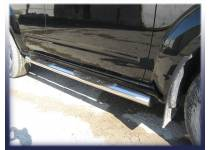 Пороги труба с проступью d76 для Nissan Pathfinder (2005-2010)
