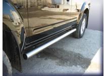 Пороги труба d76 для Nissan Pathfinder (2005-2010)