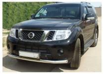 Защита переднего бампера d70 для Nissan Pathfinder (2010-2014)