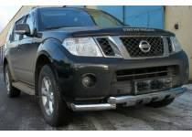 Защита переднего бампера d76 для Nissan Pathfinder (2010-2014)