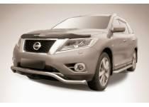 """Защита переднего бампера """"волна"""" d57 для Nissan Pathfinder (2014-)"""