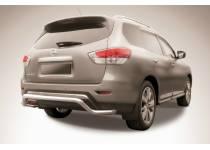 """Защита заднего бампера """"волна"""" d57 для Nissan Pathfinder (2014-)"""