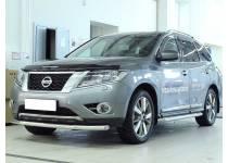 Защита переднего бампера d60 для Nissan Pathfinder (2014-)