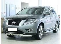 Защита переднего бампера с защитой картера d60 для Nissan Pathfinder (2014-)