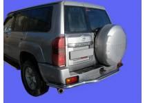 Защита заднего бампера с площадкой d60 для Nissan Patrol (2006-2010)