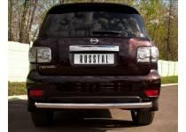 Защита заднего бампера d76 для Nissan Patrol (2010-2013)