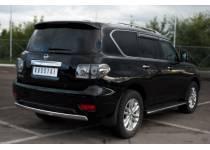 Защита заднего бампера овальная d75/42 для Nissan Patrol (2010-2013)