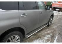 Защита штатных порогов d53 для Nissan Patrol (2014-)