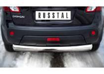 Защита заднего бампера d76 для Nissan Qashqai (2010-2013)